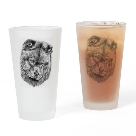 Chow Chow Pencil Drawing Pint Glass