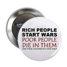 "NO MORE WAR! 2.25"" Button (10 pack)"
