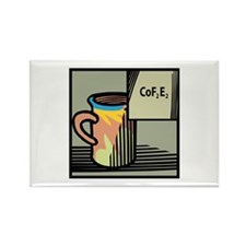 Chemical Coffee Rectangle Magnet