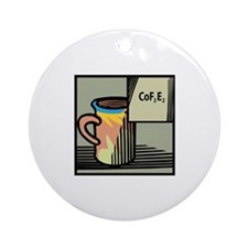 Chemical Coffee Ornament (Round)