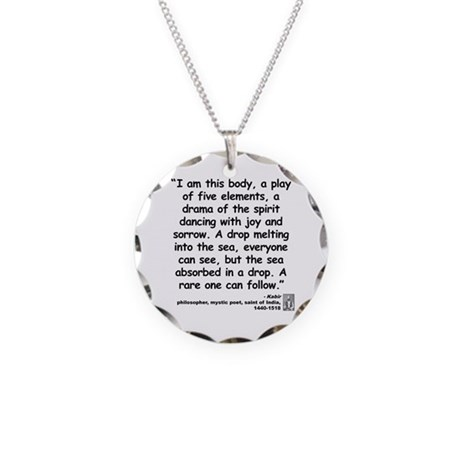 Kabir Sea Quote Necklace Circle Charm