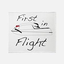 First In Flight Throw Blanket