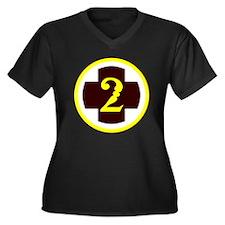 Unique Xv corps Women's Plus Size V-Neck Dark T-Shirt