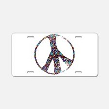 Colorful Peace Aluminum License Plate