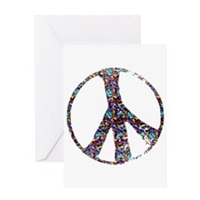 Colorful Peace Greeting Card