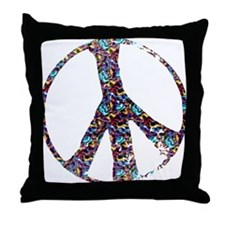 Colorful Peace Throw Pillow