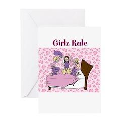 Girlz Rule Greeting Card
