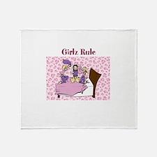 Girlz Rule Throw Blanket