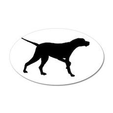 Pointer Dog 22x14 Oval Wall Peel