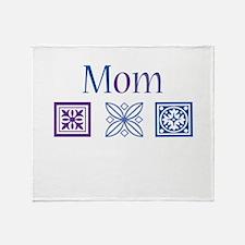 Mom Quilt Blocks Throw Blanket