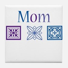 Mom Quilt Blocks Tile Coaster