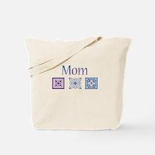 Mom Quilt Blocks Tote Bag