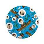 "Kayaking Inuit Boy and Fish 3.5"" Button"