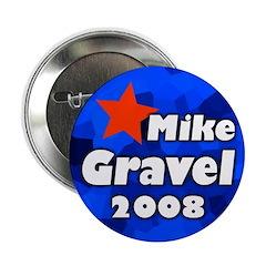 100 bulk discount Gravel for President buttons