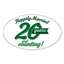20 Years Anniversary Gift Decal