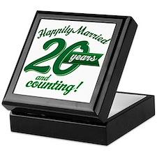 20 Years Anniversary Gift Keepsake Box
