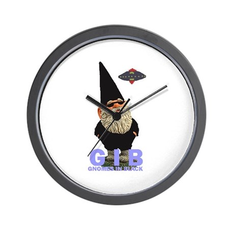 Gnomes in Black Wall Clock