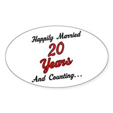 20th Anniversary Gift Married Decal