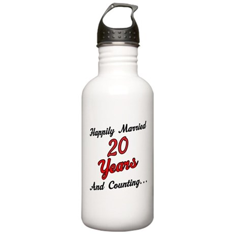 20th Anniversary Gift Married Stainless Water Bott