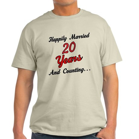 20th Anniversary Gift Married Light T-Shirt
