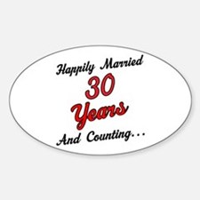 30th Anniversary Gift Married Decal