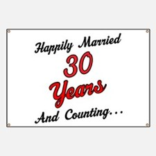 30th Anniversary Gift Married Banner