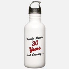30th Anniversary Gift Married Water Bottle