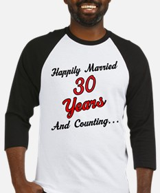 30th Anniversary Gift Married Baseball Jersey