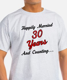 30th Anniversary Gift Married T-Shirt