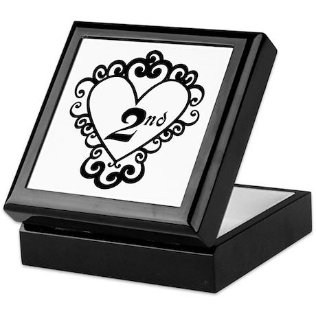 2nd Anniversary Love Gift Keepsake Box
