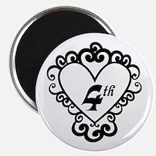 4th Anniversary Love Gift Magnet