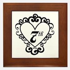7th Anniversary Love Gift Framed Tile