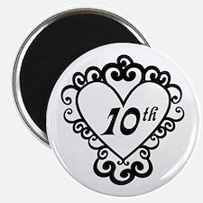 10th Anniversary Love Gift Magnet