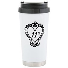 11th Anniversary Love Gift Travel Mug