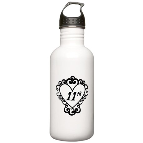 11th Anniversary Love Gift Stainless Water Bottle