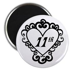 11th Anniversary Love Gift Magnet