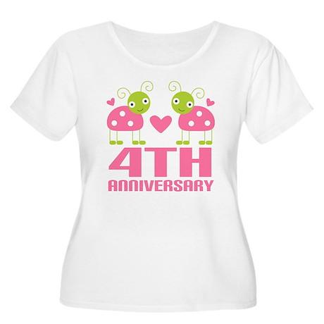 4th Anniversary Love Gift Women's Plus Size Scoop