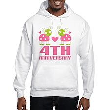 4th Anniversary Love Gift Jumper Hoody
