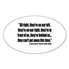"""Lt. Gen. Lewis B. """"Chesty"""" Puller Oval Decal"""