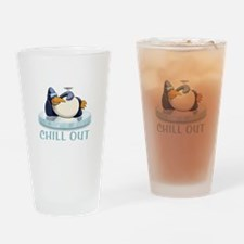 Chill Out Penguin Pint Glass