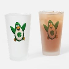 Irish Penguin Pint Glass