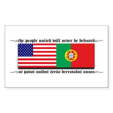 USA - Portugal Rectangle Sticker