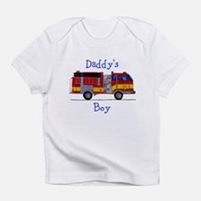 Daddys Boy Fireman Infant Bodysuit T-Shirt