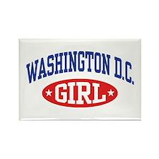 Washington DC Girl Rectangle Magnet
