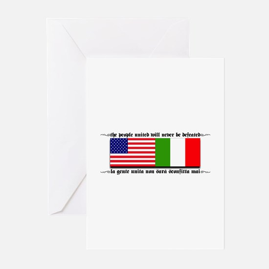 USA - Italy Greeting Cards (Pk of 10)