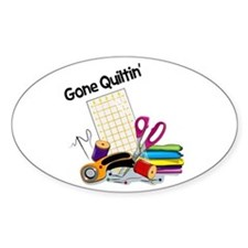 Gone Quiltin' Decal