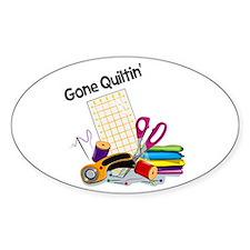 Gone Quiltin' Stickers