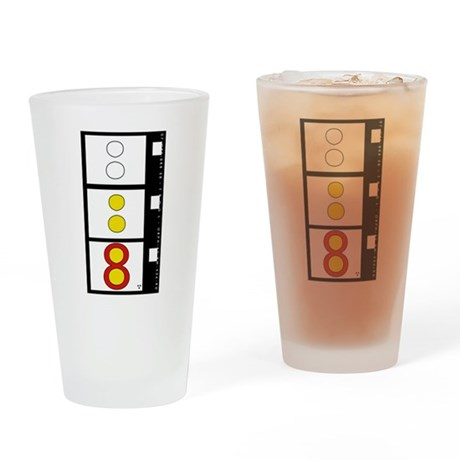 Super 8 film design Pint Glass transparent version