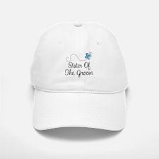 Sister of the Bride Blue Butterfly Baseball Baseball Cap