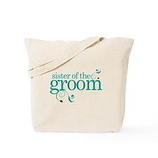 Sister of the Groom Swirl Tote Bag